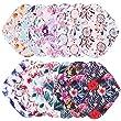 7 Pcs Resuable Waterproof Menstrual Pad Sets Including 1Pc Mini Wet Bag and 6Pcs Regular Flow Menstrual Pads Mama Cloth Sanitary Napkins