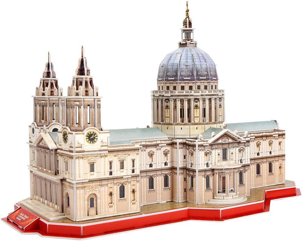 CubicFun Puzzle 3D London St. Pauls Cathedral Las Grandes Arquitecturas del Mundo, 107 Piezas: Amazon.es: Juguetes y juegos