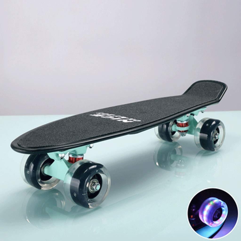 【代引き不可】 大人の子供とティーンエイジャースケートボード魚のプレート4ラウンド初心者のスケートボード B07KWXCFMN (色 : : Blue Purple) Blue B07KWXCFMN Mint Mint, ワールドエアクラフトコレクション:09c916d7 --- a0267596.xsph.ru
