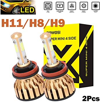 Pack of 2 9012 LED Headlights Bulbs 6000K White for High Beam//Low Beam//Fog Light Lamp 12000 Lumens Foglights 4-Side COB Chips Bright Super Bright Headlamp Replacements
