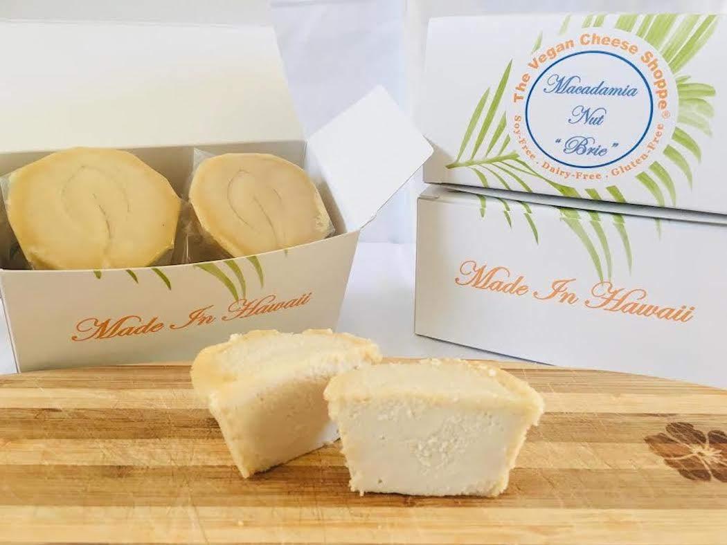 MACADAMIA NUT ''BRIE'': Dairy-Free, Gluten-Free, Soy-Free. Gourmet Vegan Cheese. MADE IN HAWAII. 12 oz.