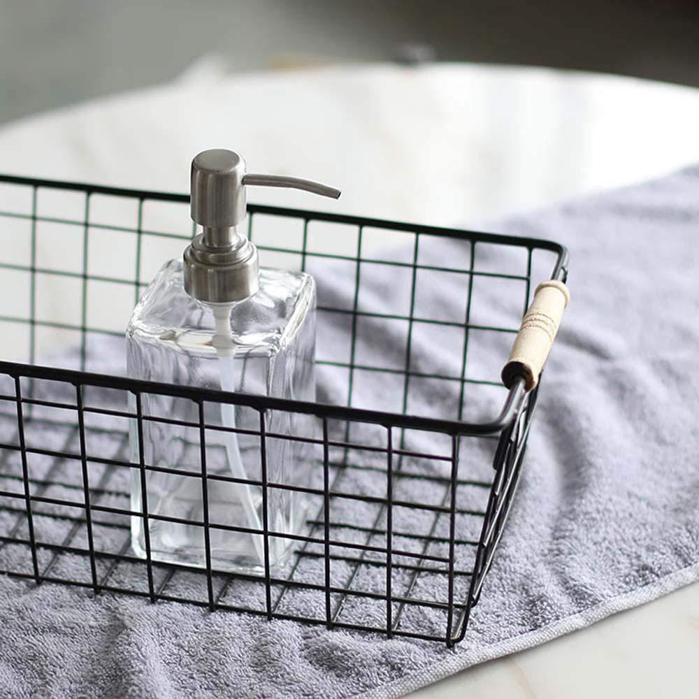 per Bagno e Cucina 2 MOGOI Dispenser di Sapone in Vetro Trasparente con Vetro antiruggine