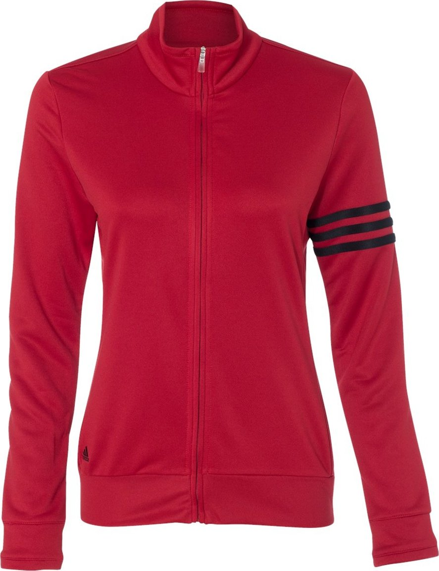 adidas Ladies' 3-Stripes Full Zip Pullover Jacket A191 adidas A191