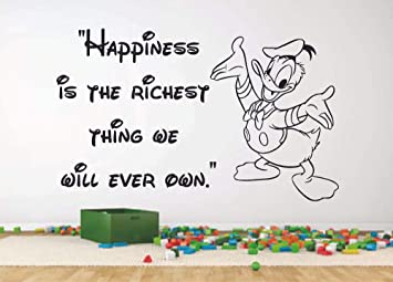 com happiness donald duck quote disney cartoon quotes wall