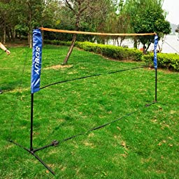 Haotian Height Adjustable 400cm (157 inch)Tennis Nets, Badminton Net with stand / frame, Fastening Devices Includes, SFN02