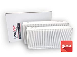 GOODVAC HEPA Filter to Replace Honeywell Part HRF201B, Filter U and to fit HHT270 HHT290 HEPA Clean Air Purifiers (2)