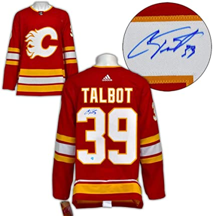 Cam Talbot Autographed Jersey Calgary Flames Alternate Adidas