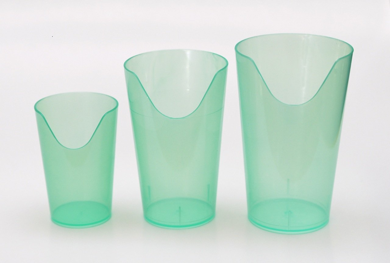 Nosey Cups 3 Pack - Set Includes 4 Oz., 8 Oz. And 12 Oz. Sizes by Providence Spillproof