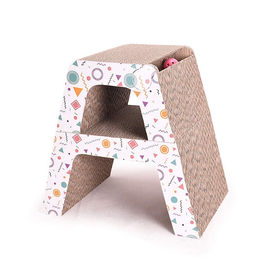 WEAO greenical Free Combination Cat Scratch Board Cat Toy Corrugated Paper Climbing Frame Puzzle Track Ball Clear Print Art