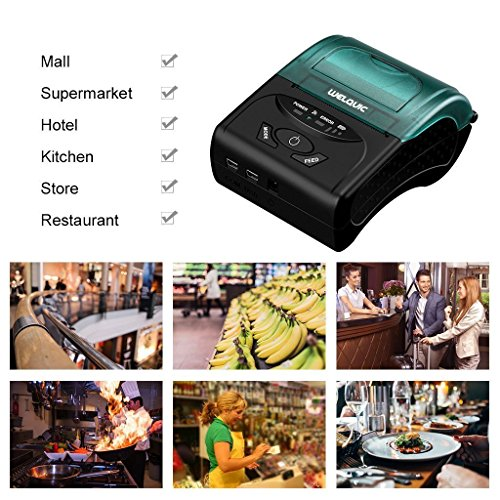 WELQUIC Portable Mini Wireless 58mm Bluetooth High Speed Direct Thermal Printer, Compatible with Android & IOS & Windows & Linux systems and ESC / POS Print Commands Set by WELQUIC (Image #7)