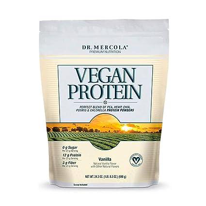 Dr Mercola Vegan Protein Vanilla (Blend of Pea, Hemp, Chia, Chlorella &