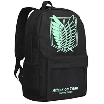 70%OFF Rain's PanAnime Attack on Titan Survey Corps Cospaly Luminous Backpack School Bag