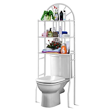 COSTWAY Toilettenregal WC-Regal Waschmaschinenregal Badregal ...