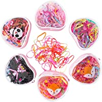 1200 PCS Colorful Elastic Hair Ties for Kids Baby Girls Multi Color Hair Rubber Bands with Box for Ponytails Hairstyles Braiding