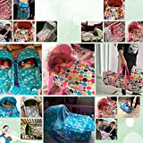 Olpchee Portable Baby Carrycot Baby Travel Bed Crib Infant Transporter Basket with Double Handle for 0-7 Months Babies