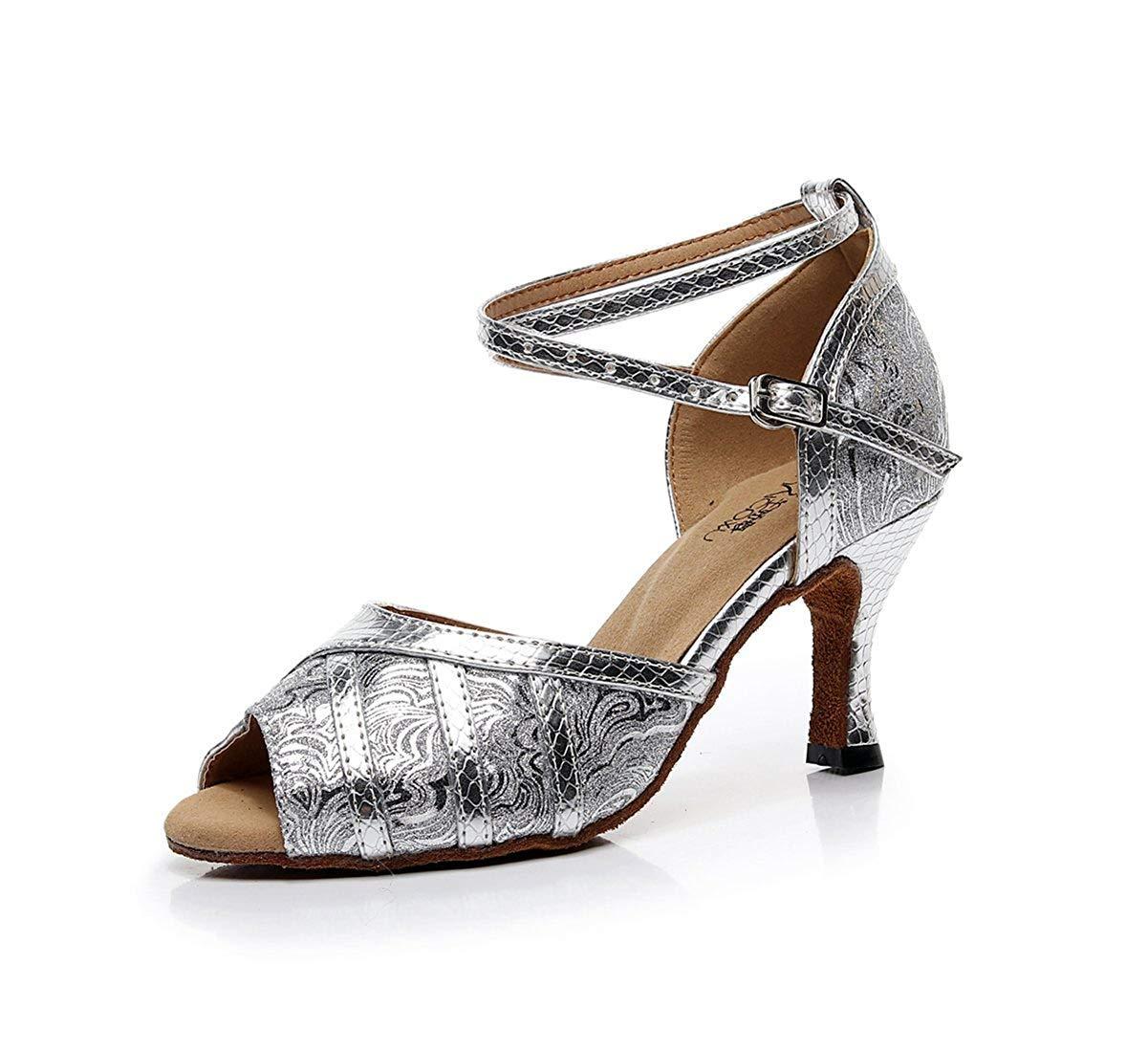 Qiusa Cinturino alla Caviglia da Donna Fatto Fatto Fatto a Mano in argentoo Sintetico Sandali da Ballo Latino da Ballo Salsa UK 3 (colore   -, Dimensione   -) 97679b