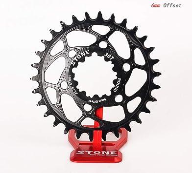 Stone MTB - Plato para Bicicleta (6 mm, Montaje Directo, para ...