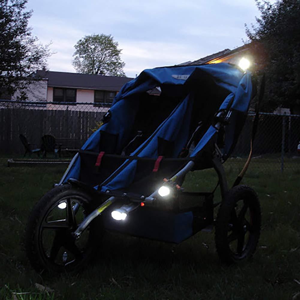 LED b/éb/é poussette ext/érieure imperm/éable /à leau flash nuit rappeler lumi/ères s/écurit/é alerte lumi/ère accessoires pour b/éb/é coffre-fort 1 PC rouge