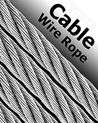 Stock steel wire size wiring info cable railing stainless steel wire rope cable strand size quantity rh amazon com steel wire size chart steel cable size chart greentooth Choice Image