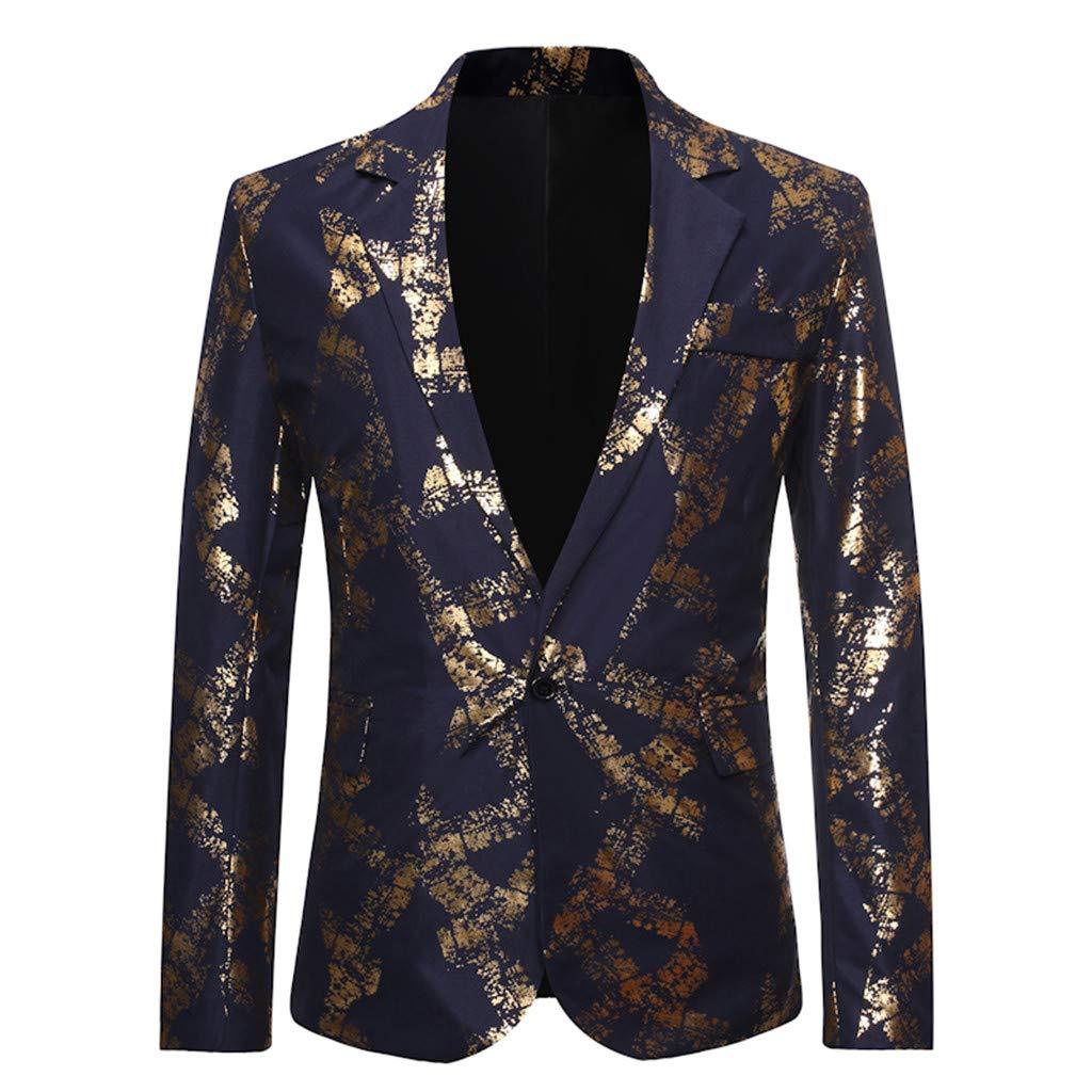 DAY8 Giacche da Abito Vestito Blazer Uomo Slim Fit Casual Giacca Uomo Elegante con Paillettes Smoking Cappotti Uomo Eleganti Inverno Cerimonia Risvolto Semplice
