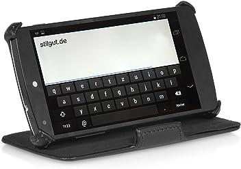StilGut UltraSlim, con funzione di sostegno e presentazione, per Google Nexus 5, colore: nero
