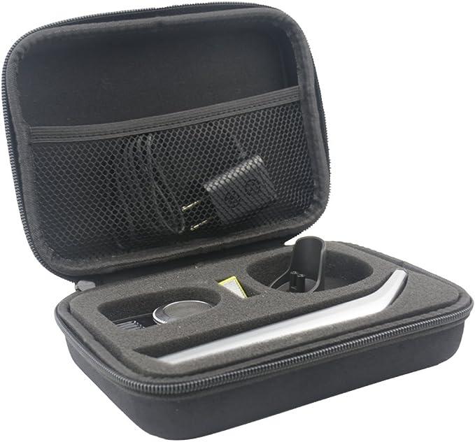 Duro Estuche Viajes Funda Bolso para OneBlade Pro QP6520/30 QP6510/30 QP6510/60 - Recortador de barba by SANVSEN: Amazon.es: Salud y cuidado personal