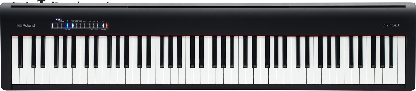 ROLAND 88-note Portable Digital Piano, black, Keys (FP-30-BK) by Roland