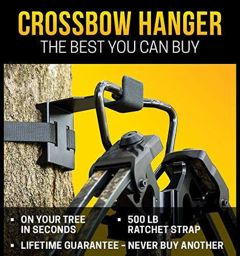 - BWD Crossbow Hanger - ON Your Tree in Seconds - The ONLY Crossbow Hanger Legal to USE ON All State and Federal Lands