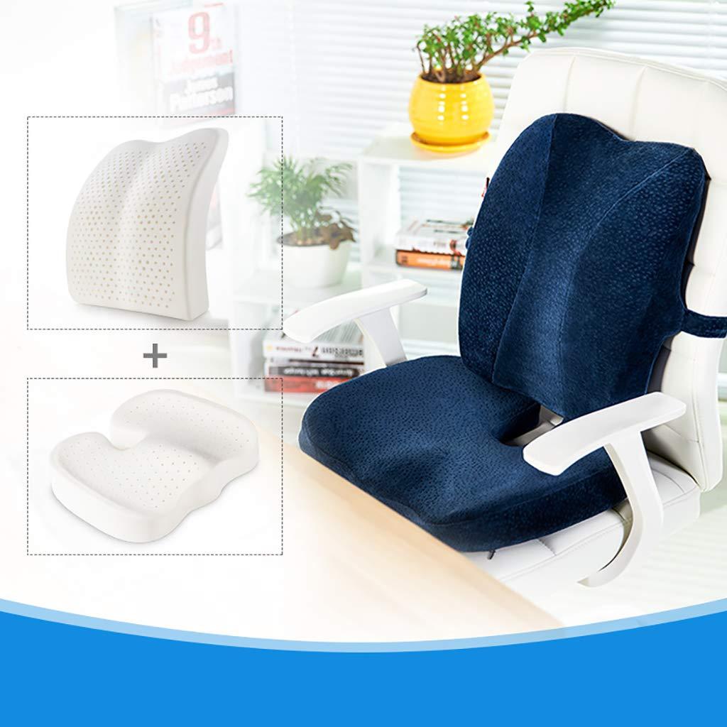尾骨 クッション 健康クッション, 天然ラテックス 整形外科の設計 換気 優れたサポート 座り心地いい 坐骨神経痛腰痛に役立ちます シートクッション-C L45xW37xH6cm(18x15x2inch) L45xW37xH6cm(18x15x2inch) C B07K5DZH9Y