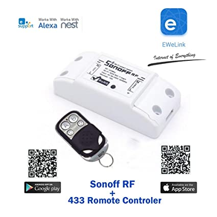 buynow365 sonoff with RF Receptor itead WiFi Wireless romote Controlled Smart Switch Wireless Electrical temporizador Control