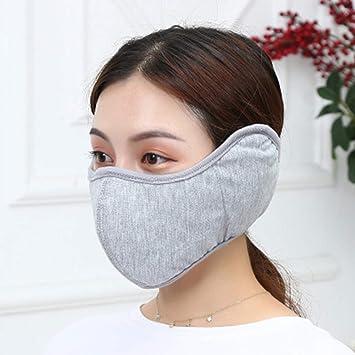 Orejeras que montan máscaras a prueba de viento, algodón de otoño e invierno orejeras frías y cálidas que montan una máscara protectora a prueba de viento-gray: Amazon.es: Salud y cuidado personal