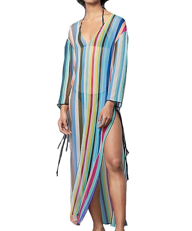 2b66aae601 Top6: Women\'s Print Turkish Kaftans Chiffon Caftan Loungewear Beachwear  Bikini Swimsuit Cover Up Dress