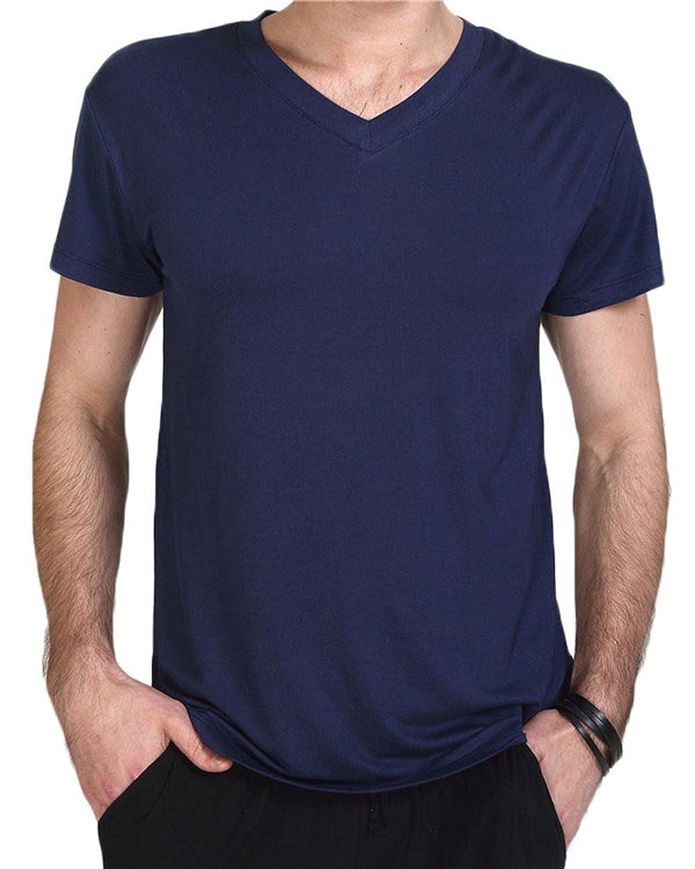 Wantschun Herren Nachtwä sche T-Shirt Top Tee Shirt Schlafanzug Pyjama Hausanzug