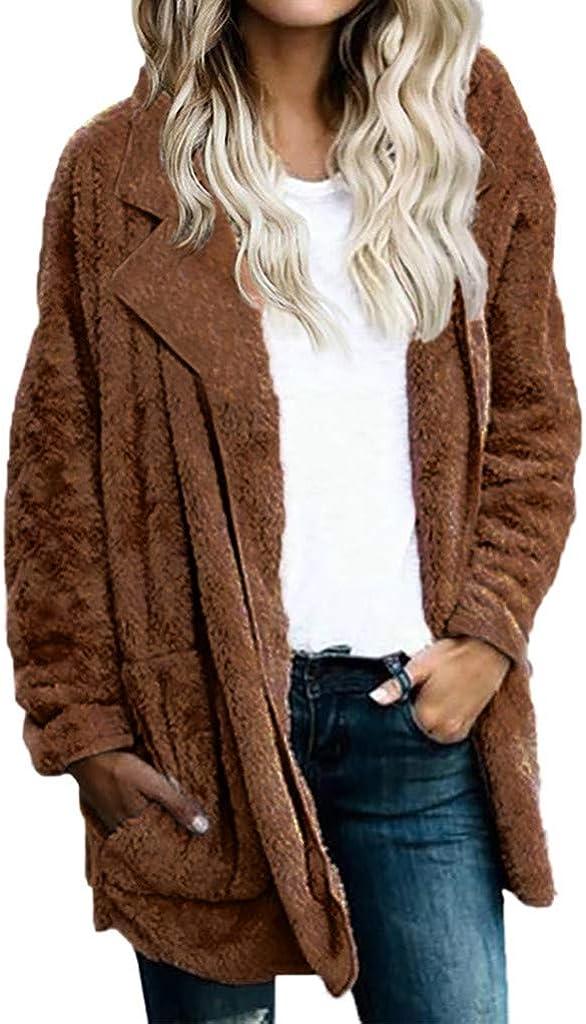 WoWer Wintermantel Damen Wintermantel Warm Damen Winterjacke Fleecejacke Kurzm/äntel Parkas Jacket Pl/üschmantel Mantel Damen S-XXXL