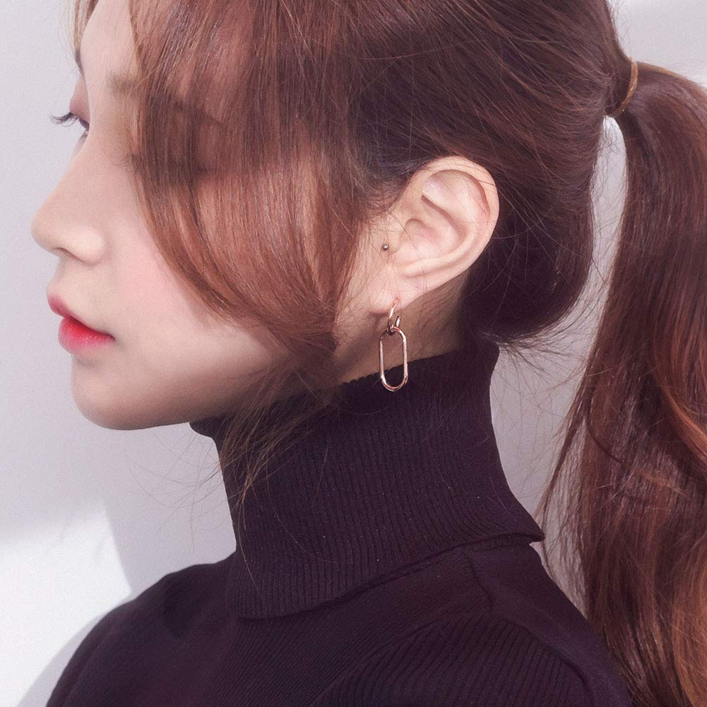 Double Round Drop Earrings for Women Teen Girls