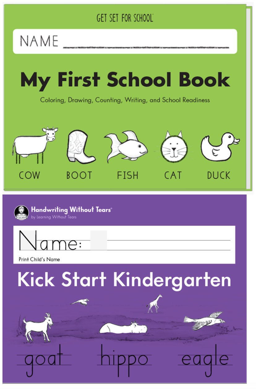 My First School Book + Kick Start Kindergarten, 2018 Edition, Transition to Kindergarten, Handwriting Without Tears