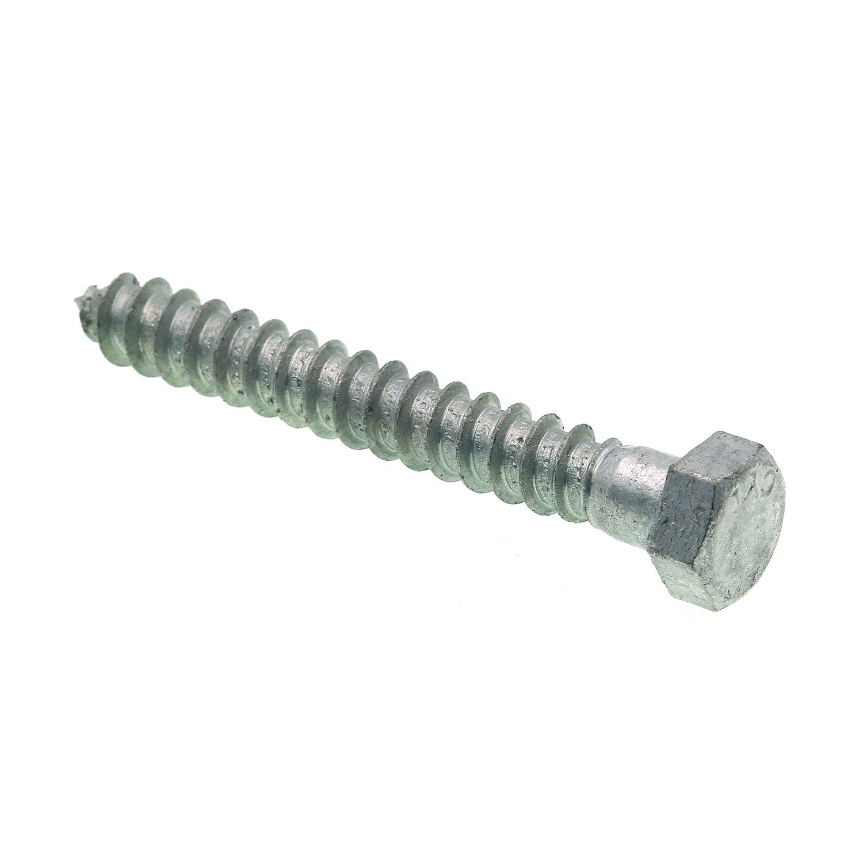 Prime-Line 9056313 Hex Lag Screws, 3/8 in. X 3 in., A307 Grade A Hot Dip Galvanized Steel, 25-Pack