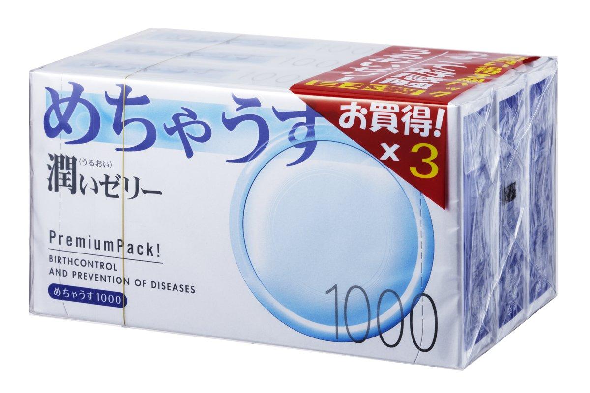 コンドーム装着画像 Amazon | めちゃうす 1000 1箱12コ入×3パック 【SKYN お試しサンプル付】 | めちゃうす | コンドーム 通販