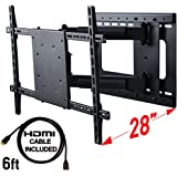 Full Motion TV Wall Mount with Articulating Swivel Arm For 32 up to 60 Inch TV with Right and Left Horizontal Movement