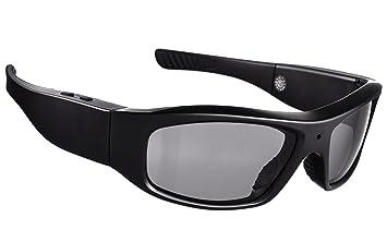 DCCN Espionaje Cámara Gafas de sol UV400 Mini Camcorde Gafas Full HD con auriculares para ciclismo