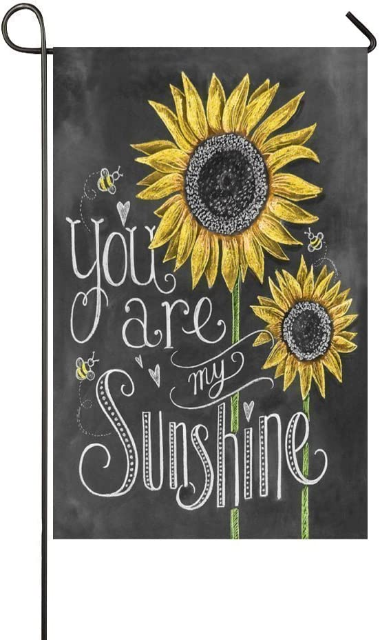YQZsay You are My Sunshine Sunflower 12X18 inch Garden Flag - Double Sided Holiday Decorative Outdoor House Flag