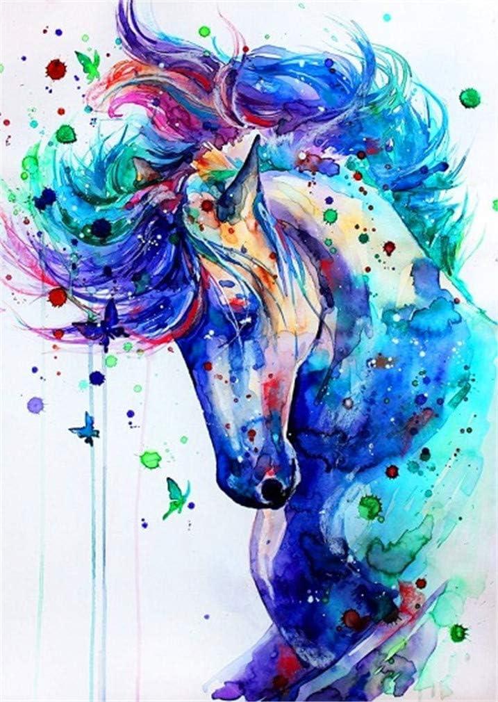 Cavallo, Senza Telaio YEESAM ART DIY Dipingere con i Numeri Adulti Bambini Cavalli Mare Quadri Cavallo colorato 40x50cm