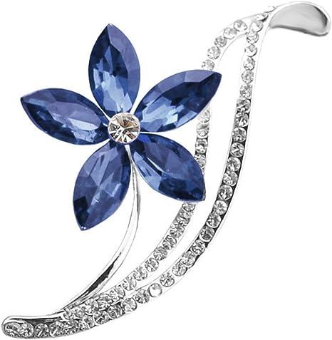 LKEEP Butterfly Brooch Pins Elegant Rhinestone Brooches Women Corsage Scarf Shawl Clothing Accessories