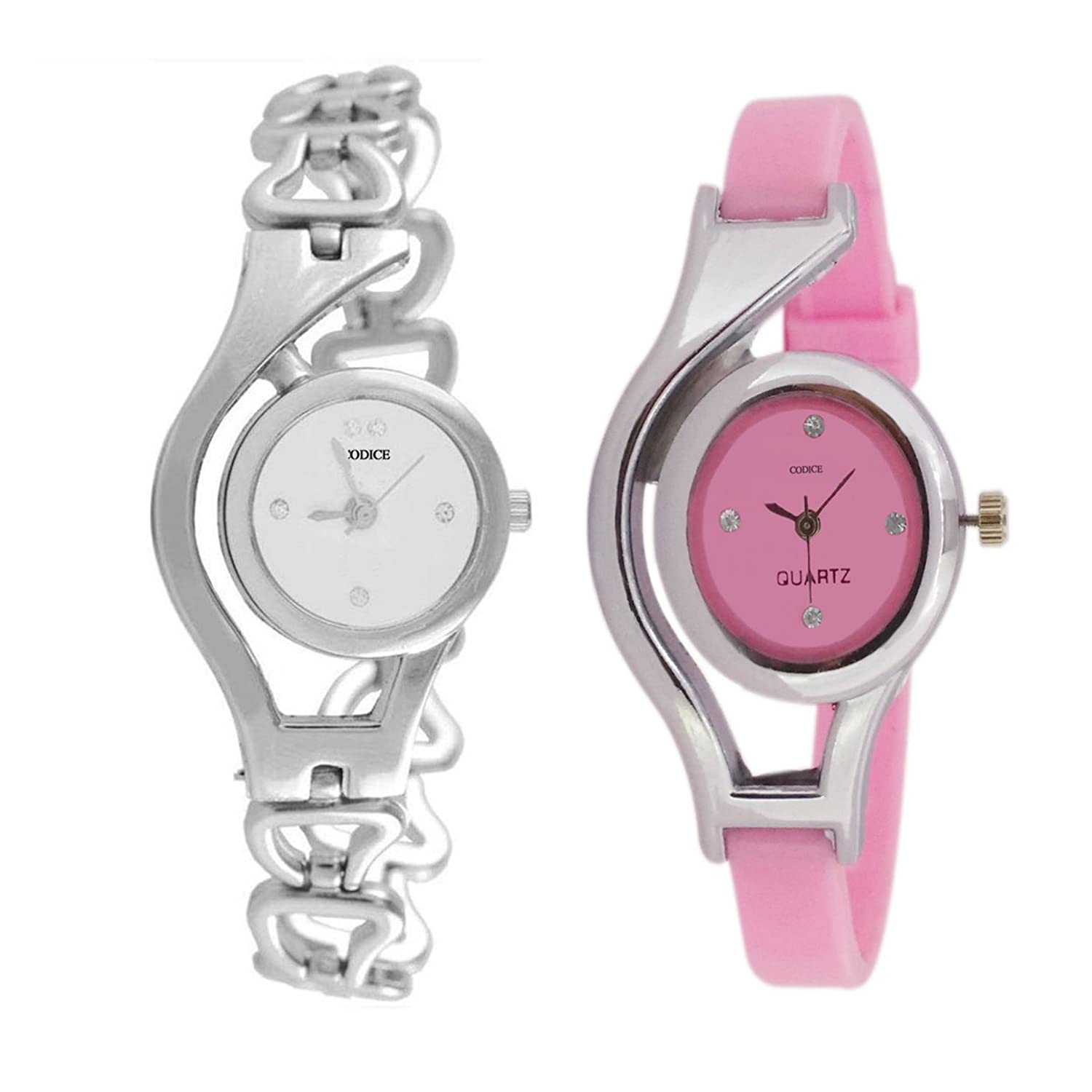 Buy Codice Cpmbo Pack of 2 Analogue MultiColor Dial Girls Watch ...
