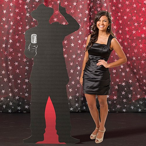 5 ft. 11 in. Vintage Hollywood Movie Star Paparazzi 3 Standup Photo Booth Prop Background Backdrop Party Decoration Decor Scene Setter Cardboard Cutout -