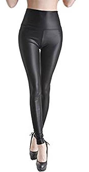 be07b474aab85 Classy Trendz Women Pu High Waisted PVC Leather Wet Look Leggings Pants  (Black, SM