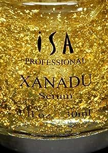 XANADU 24K Gold Vitamin C Serum Makeup Primer Hyaluronic Acid Vitamin E Rose Moisturizer and Foundation Primer by ISA Professional