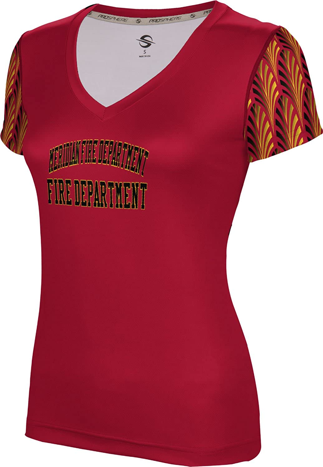 ProSphere Women's Meridian Fire Department Deco SL V-Neck Training Tee