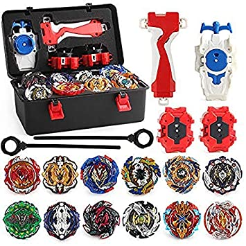 4D Beyblade Fusion Top Metal Master Battle Launcher Grip Set Kids Toys Bday Gift