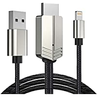 【最新バージョン 1080P高解像度】Lightning HDMI アダプタ iphone HDMI 変換ケーブル ライトニング Digital AVアダプタ アイフォン 設定不要 iPhone テレビ接続ケーブル ビデオデッキ YouTube TV出力 画面と音声同時出力 プロジェクター iPhone/iPadのビデオ出力に対応 日本語取扱説明書付き (シルバー)